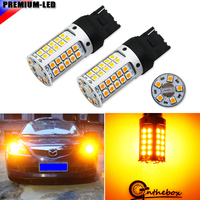 No Hyper Flash 21W High Power Amber Yellow 7440 T20 W21W LED Bulbs For Car Front
