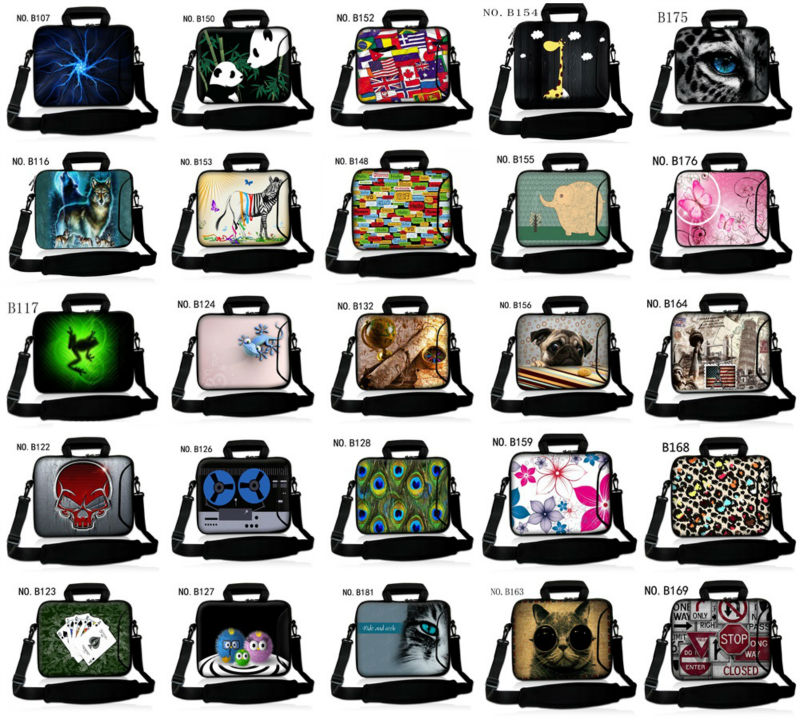 Lovely Panda 13 14 15 17 15.6 inch casual Computer laptop notebook bags case messenger Shoulder bag Durable Free shipping