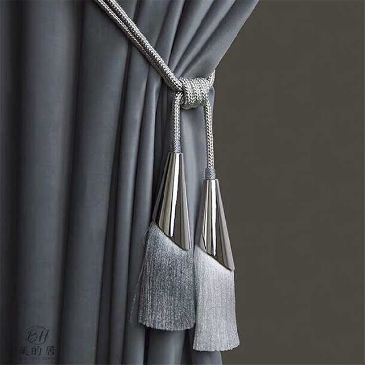 2 pcs luxury simple and modern metal curtain tassels curtain hanging ball double balls curtain tiebacks curtain accessories