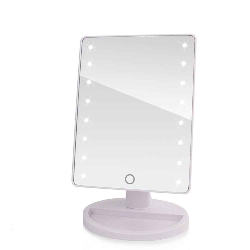 16/22 LED Touch Screen Makeup Mirror Professional Vanity Mirror With LED Lights Health Beauty Adjustable Countertop 180 Rotating все цены