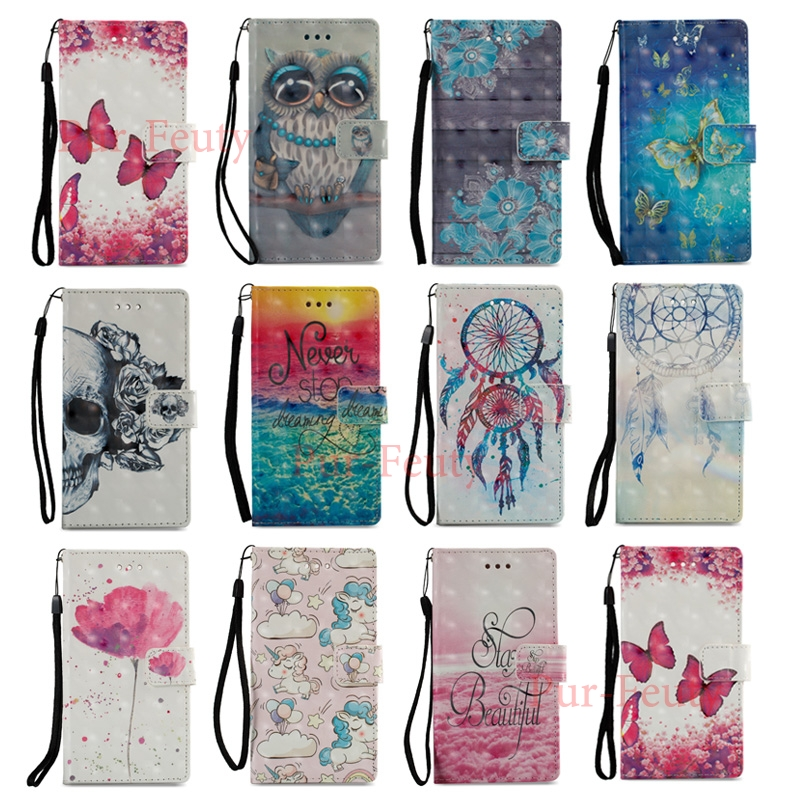 <font><b>Case</b></font> For <font><b>Nokia</b></font> 3.1 31 TA-1063 TA 1063 1070 Leather Wallet Flip Magnetic Butterfly Flowers 3D Painted For <font><b>Nokia</b></font> 2.1 3.1 5.1 <font><b>2018</b></font> image