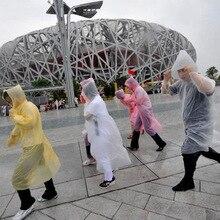 Transparent Raincoat Poncho Hood Impermeable Adult Waterproof Women Camping Travel 10pcs