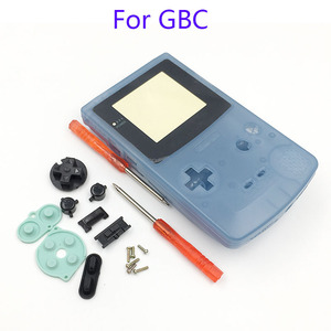 Image 5 - Plastic Luminous Housing Shell Fluorescent Case For GBC Gameboy Color Glow Blue Green Color Case Cover