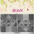 Цветок Серии BQAN 1 Лист Красивые Павлиньи Перья Ногтей Плиты Изображения Для Печати FL06