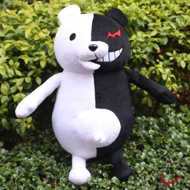 """Супер Dangan Ronpa 2 Аниме Косплей 40 см 16 """"Danganronpa MonoKuma Черный & Белый Медведь Плюшевые Игрушки Куклы Бесплатная Доставка доставка"""