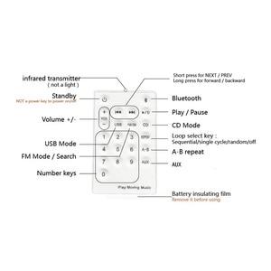 Image 4 - QPLOVE EStgoSZ مشغل أقراص مضغوطة قابلة للتركيب على الحائط بلوتوث المحمولة الرئيسية صندوق الصوت مع جهاز التحكم عن بعد راديو FM المدمج في مكبر هاي فاي MP3