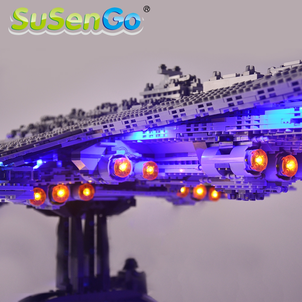 SuSenGo Led Light Kit For Super Star Destroyer Compatible With 10221 And 05028  Light Set (NOT Include The model)-in Blocks from Toys & Hobbies    2