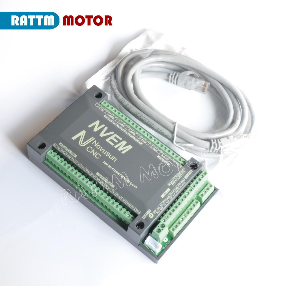 4-Axis NVEM CNC Controller 200KHZ Ethernet MACH3 Motion Control Card for Stepper Motor Servo motor from RATTM MOTOR4-Axis NVEM CNC Controller 200KHZ Ethernet MACH3 Motion Control Card for Stepper Motor Servo motor from RATTM MOTOR