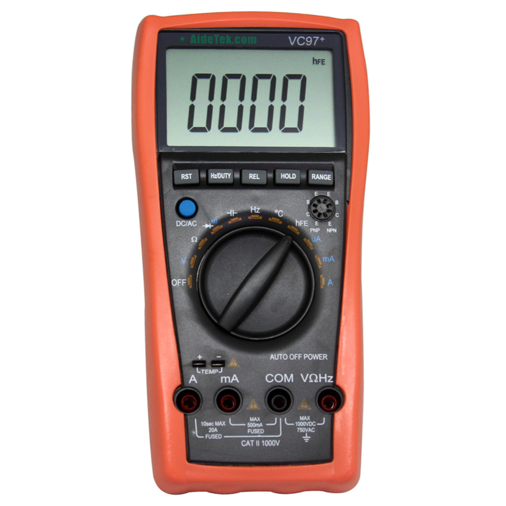 AideTek VC97+ auto range DMM AC DC Voltmeter Capacitance Resistance digital Multimeter VS