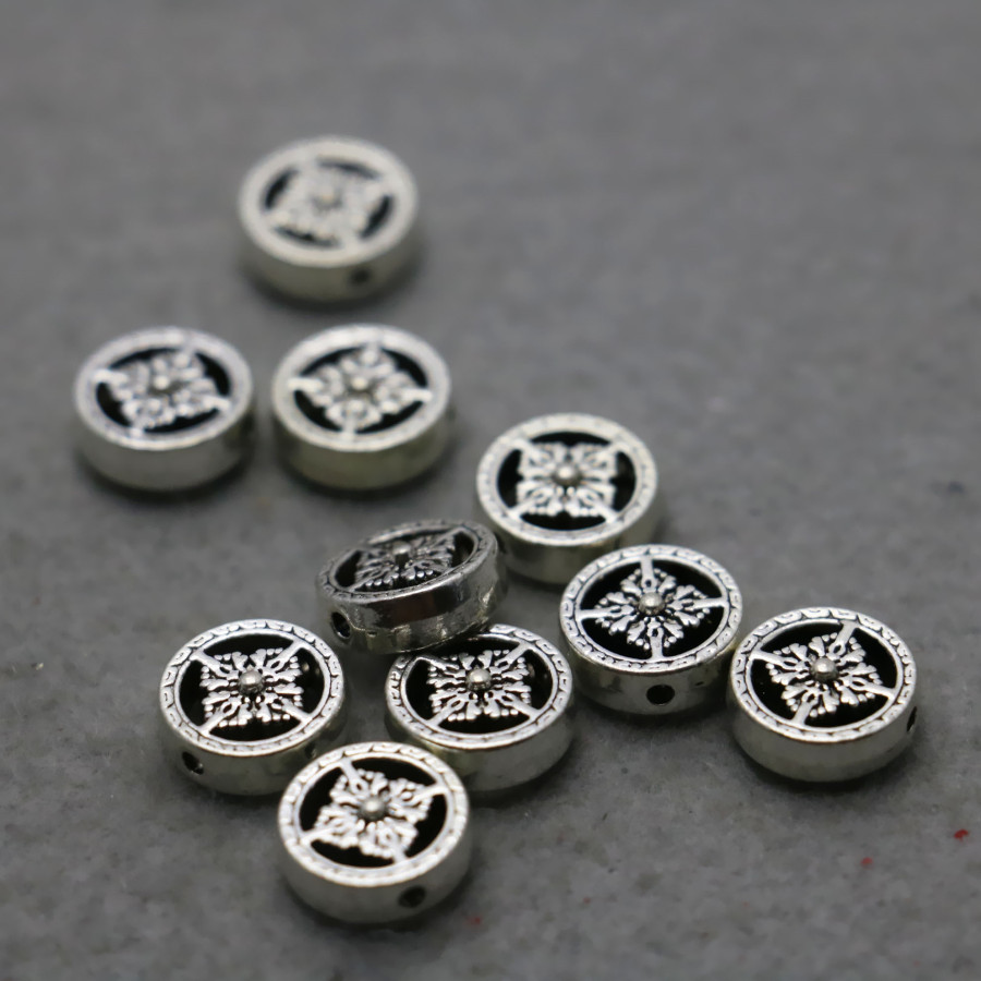 10PCS Hot Wholesale buttons Boutique Round Alloy Findings separate Fittings for Accessory 11x4mm DIY beads components Findings