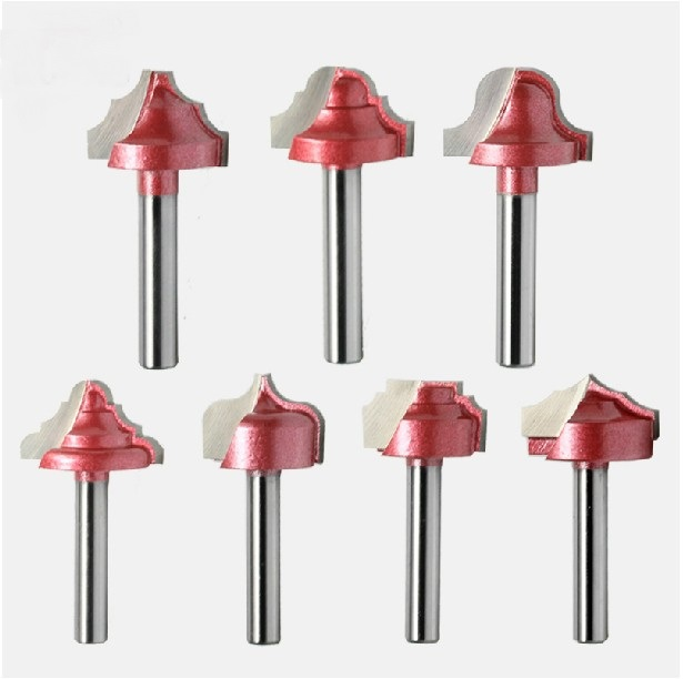 High Quality 7pcs Set Wood Making Router End Mill CNC Engraving V Groove Bit 6mm