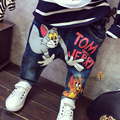 New 2017 Baby Boys Girls Jeans Cartoon Cat Mouse Baby 2-7yrs Boys Jeans Brand Children Clothing Kids Jeans Children Casual Pants