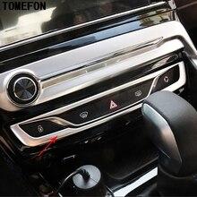 Для Peugeot 308 2016 2017 Нержавеющаясталь центральной Управление Кнопки Декоративные Рамки огни неисправности Demister кнопку обрезать стайлинга автомобилей