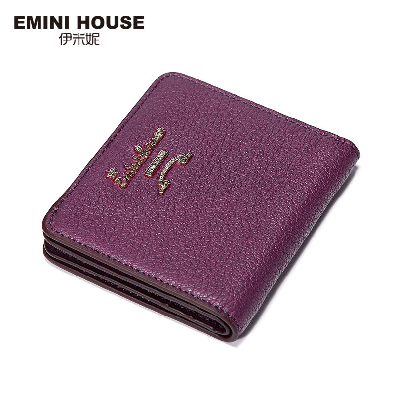 EMINI HOUSE 5 Colors Fashion Sheepskin Women Short Wallets Genuine Leather Wallet Mini Luxury Zipper Coin Purse Travel Wallet