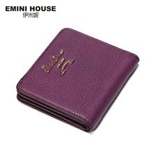 EMINI HOUSE 5 Colors Fashion Sheepskin Women Short Wallets Genuine Leather Wallet Mini Luxury Zipper Coin Purse Travel Wallet