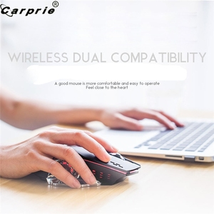 Image 3 - Wiederaufladbare X8 Wireless Gaming Maus 2400DPI Stille Noiseless LED Backlit USB Optische Ergonomische Gaming Mäuse Stumm 90214