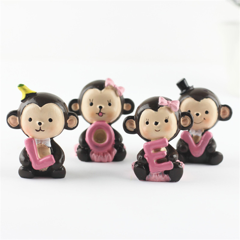 Affe Figur Dekoration Miniatur Figuren Resin Handwerk Cartoon Tier ...