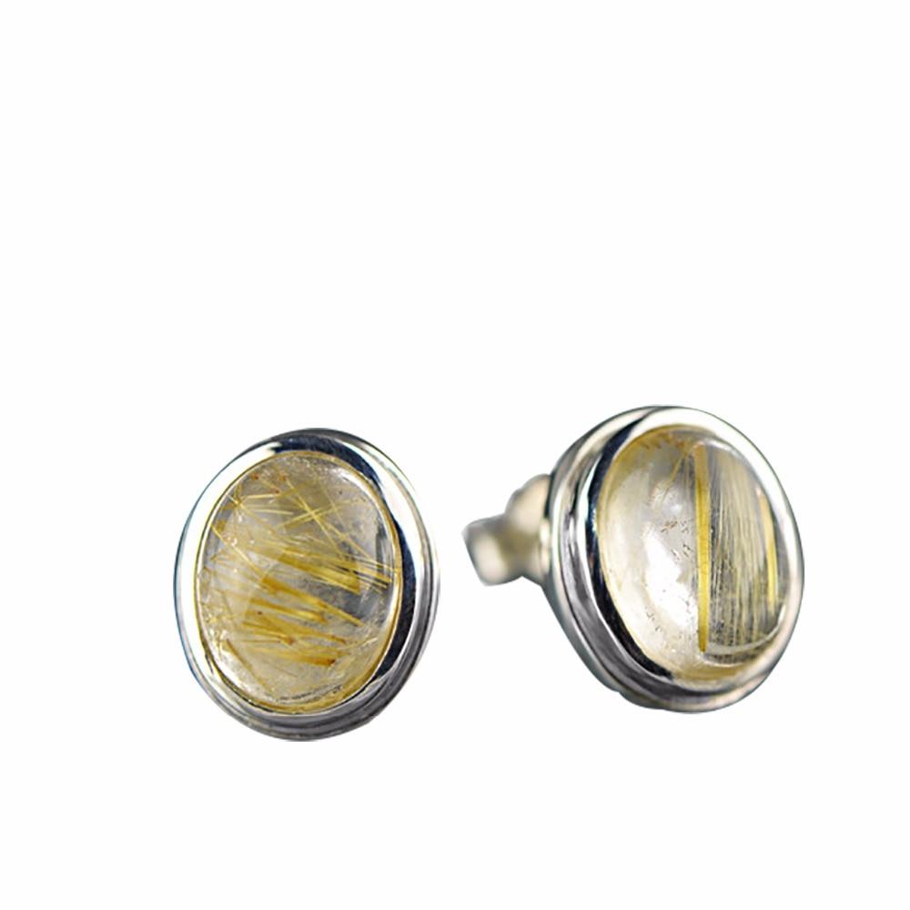 Luxe nouveau mode cristal naturel 925 argent boucles d'oreilles pour les femmes mode parti élégant fête boucles d'oreilles 2018