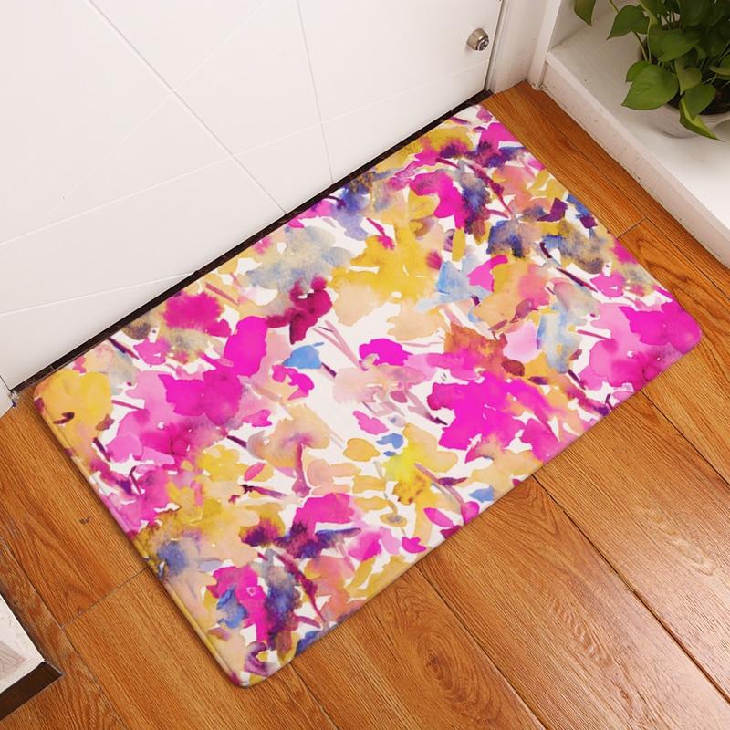 20 blommor i matt stil med antislip golvmattor utomhusmattor - Hemtextil - Foto 2