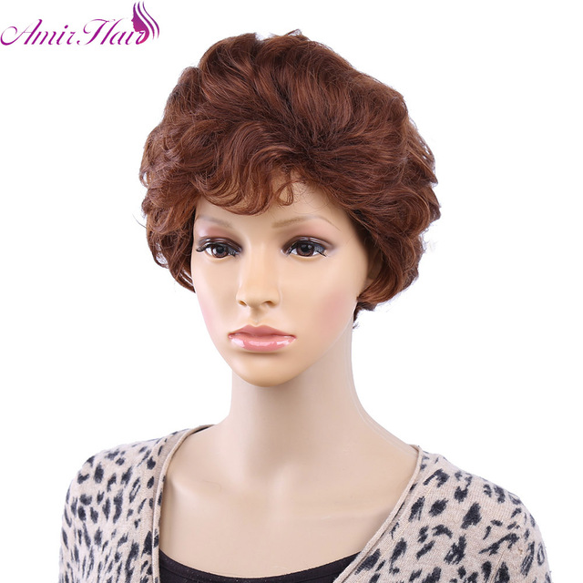 Amir Hair Sweet Medium Short Curly Blonde about 10 Inches Synthetic Hair Wigs for women free shipping