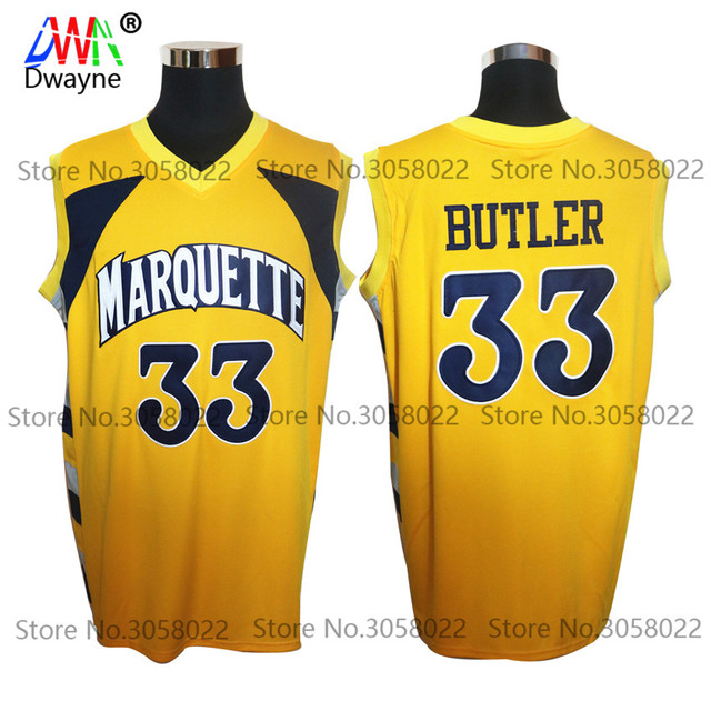 2017 Men Dwayne Vintage Jimmy Butler #33 Throwback College Marquette Golden  Eagles Basketball Jersey Retro Shirts For Mens -in Basketball Jerseys from