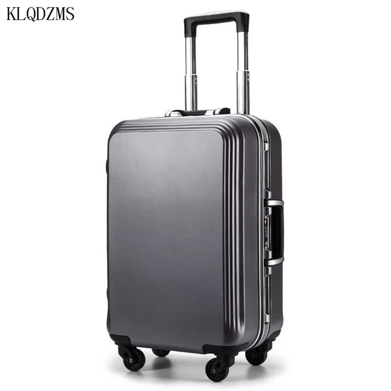 KLQDZMS 20/22/24/26/28inch High Quality ABS+PC Rolling Luggage Lightweight Travel Suitcase On Wheels