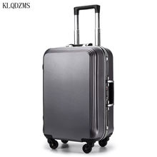 Klqdzms mala de viagem leve, para mala de viagem de alta qualidade, abs + pc, 22/24/26/28 polegadas rodas com rodas