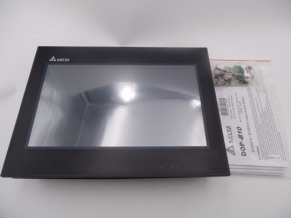 HMI 10.1 inch 1024x600 DOP-B10S615 Delta New with USB  program download Cable dop b07s411 7 inch 800x480 hmi touch screen delta operator panel dop b07s411 with usb program download cable fast shipping
