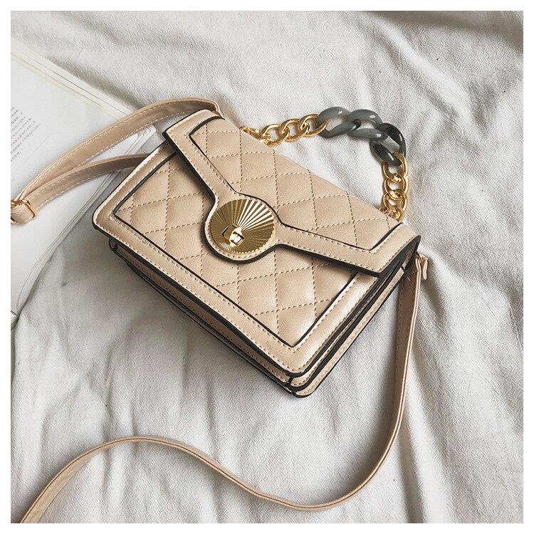 Women's Designer Luxury Channels Bags Shoulder Handbag for Women Quilted Leather Crossbody Flap Bag Fashion PU Lock Tote Handbag (4)