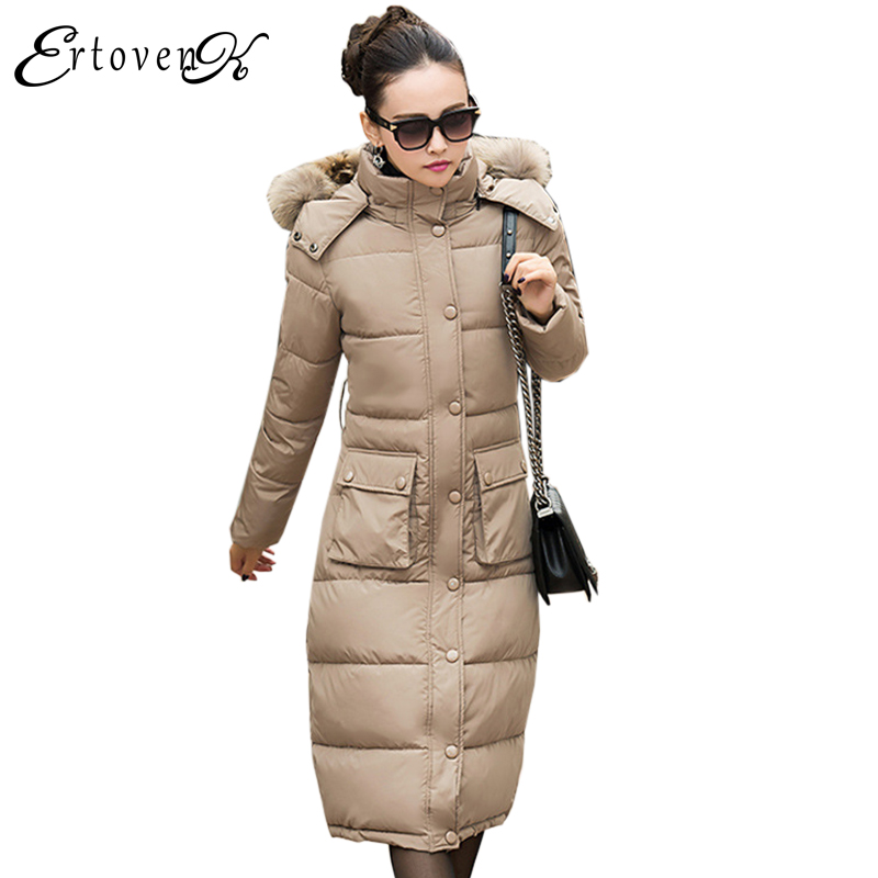 New Winter Women 2017Cotton Coats Slim Fur collar Jackets Fashion Plus Size Clothing Long sleeves Outerwear abrigos mujer LH081 plus size women cotton coats jacket winter 2017 new long sleeve top slim fashion clothing korean outerwear abrigos mujer lh013
