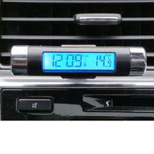 Зажим для гитары-на синей подсветке цифровой автомобильный термометр часы автомобиля календарь диагностические инструменты