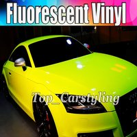 High Quality fluorescent Yellow & pink / green Car Wrap Vinyl Film auto wrapping foil with Air bubble Free 1.52x20m 5x67ft