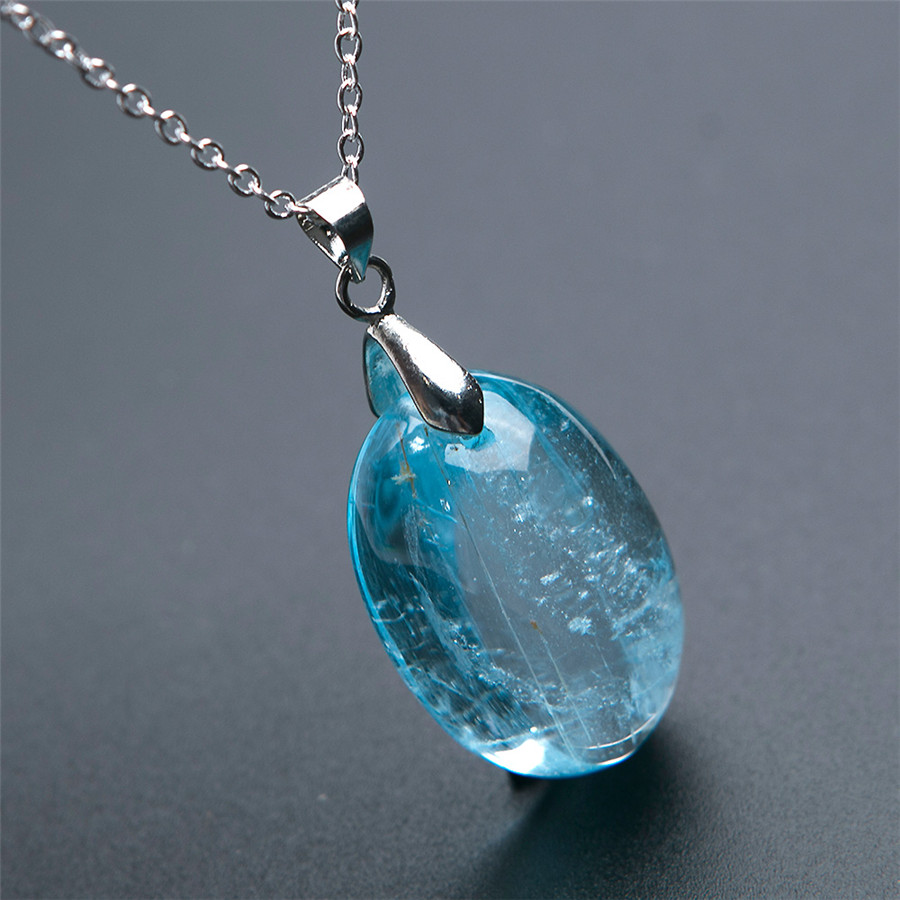 Natural Blue Lady Stretch Round Gem stone Bracelet Fashion AAAAAA Healing Stone