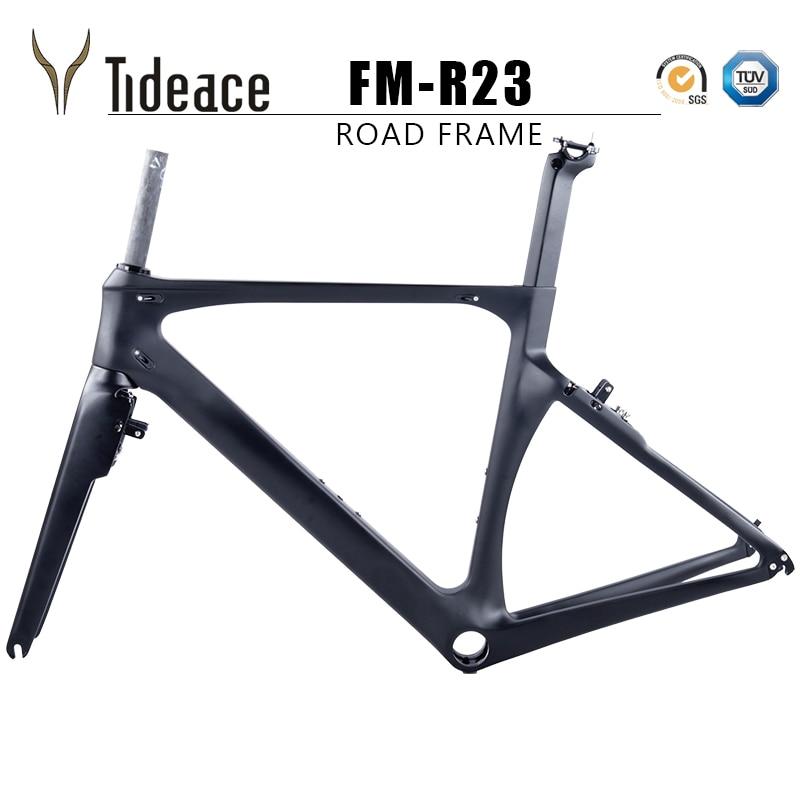 Tideace China X Brake PF30 BB Aero UD Black Carbon Fiber Road Bike Frame XXS/XS/S/M/L With Brake Calipers Free For You