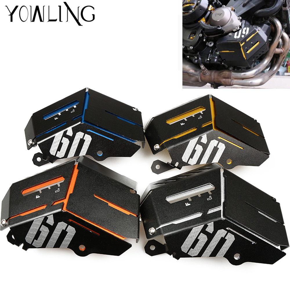 MT 09 Radiator Guard Coolant Recovery Tank Shielding Engine Cover For Yamaha MT 09 FZ 09 MT FZ 09 MT09 FZ09 2014 2015 2016 2017 in Covers Ornamental Mouldings from Automobiles Motorcycles