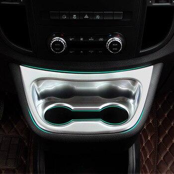 2 шт. для Mercedes Benz Vito Valente Metris 2014-2018 Матовая Серебристая ABS Хромированная передняя крышка для водной чашки отделка Аксессуары для стайлинга авт...