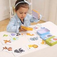 Игрушки Монтессори для детей, материалы для обучения, познавательная карточка раннего обучения, Excite обучающая образовательная карта, детск...