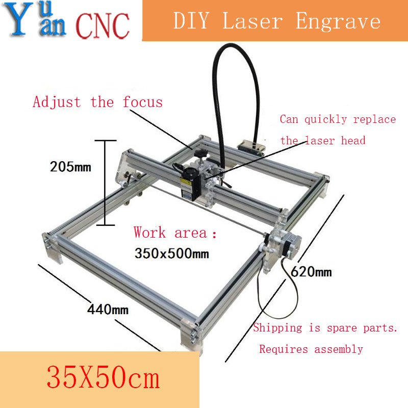 3550 DIY CNC machine Laser Engraving Machine wood router Mini Marking Machine  Advanced Toys  Blue violet light 100mw laser power diy mini laser engraving machine 35 50cm engraving area mini marking machine advanced toys best gift