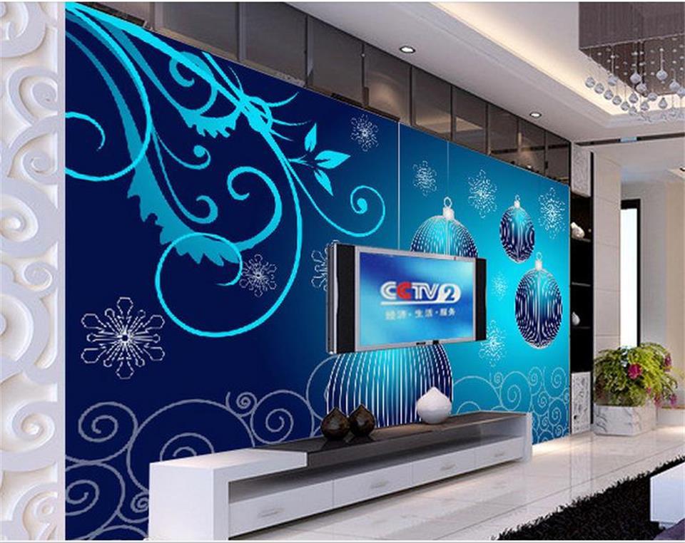 100% Waar Custom 3d Foto Behang Muurschildering Kerst Blauw Bal 3d Schilderij Foto Sofa Tv Achtergrond Woonkamer Vliesbehang Sticker Delicious In Taste