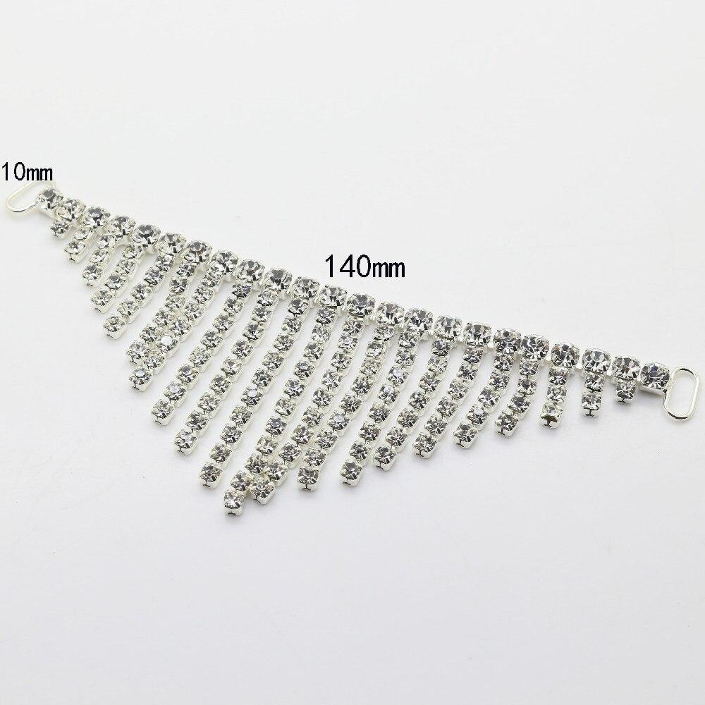 Horký! 10pcs 140mm dlouhé drahokamu konektory Bikini / Spona ohromující vzhled kovový řetěz pro plavání nosit Bikiny dekorace
