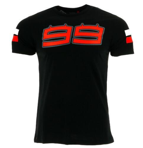 2017 Jorge Lorenzo 99 grande logotipo Para homens T-shirt T-shirt cb Moto GP Racing preto verão