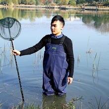 0.55 мм Утолщаются ПВХ дышащая Рыбалка Куликов груди Куликов для рыбалки для охоты Водонепроницаемый цельный одежда Вейдерсы