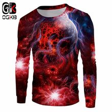 OGKB New red Space Galaxy Hoodies Men/Women 3d Sweatshirts Print Nebula Clouds Casual Pullovers Autumn Winter Hiphop Sweats Tops(China)