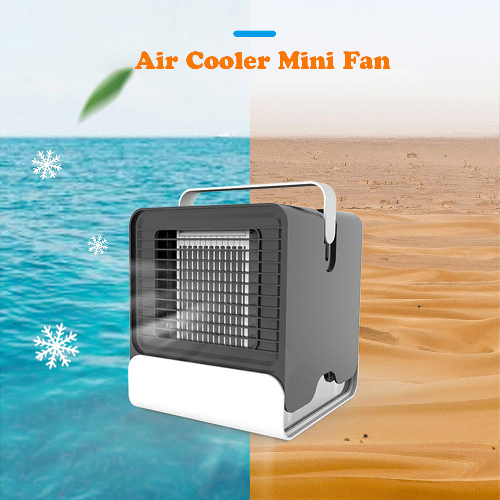 USB Mini Cooler Small Air Conditioning Appliances Mini Fans Air Cooling Fan Summer Portable Conditioner For Office Home