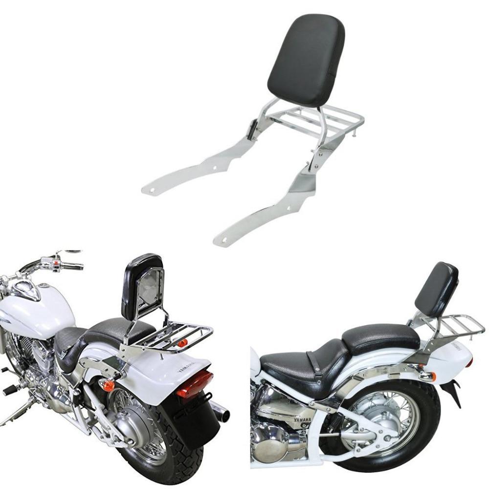 Backrest Sissy Bar Set Luggage Rack for Yamaha V Star Vstar 650 400