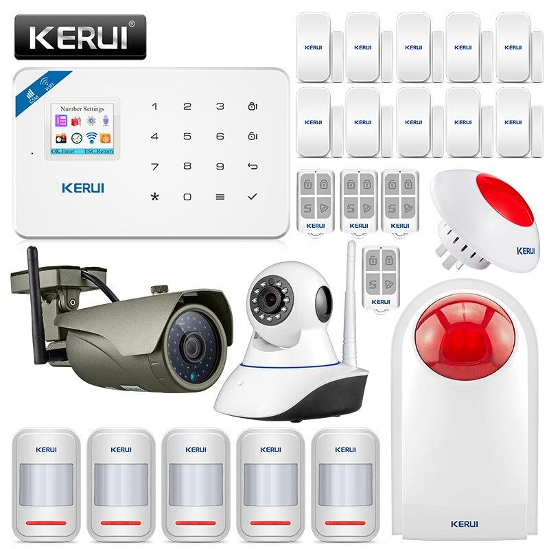 KERUI W18 GSM 2,4G wifi Беспроводная охранная охранохранная сигнализация для дома, сада, виллы, комплект сигнализации, Wi Fi, для улицы, для помещений, ip