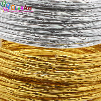 OLINGART 5M/lot 2.0mm Pattern Aluminum wire gold / silver soft craft versatile New metal DIY Handmade jewelry making