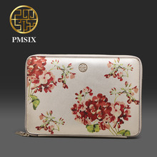 Pmsix 2017 New leather clutch for phone pad Flower design leather handbag female envelope bags P520012