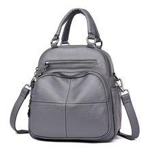 High Quality Women Washed Leather Ladies Rucksack Crossbody Sling Shoulder Bag Purse Top handle Bag Satchel цена 2017