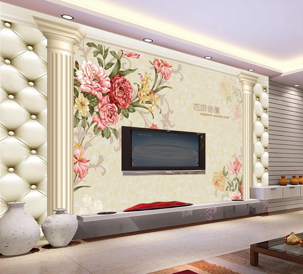 3d wall murals hd roman pattern wallpaper high end mural for tv sofa background wall papel de parede floral in wallpapers from home improvement on